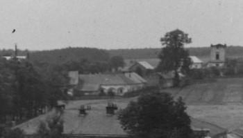 Pałac Lubomirskich po prawej stronie widoczny klasztor ok. 1900-1918 r.